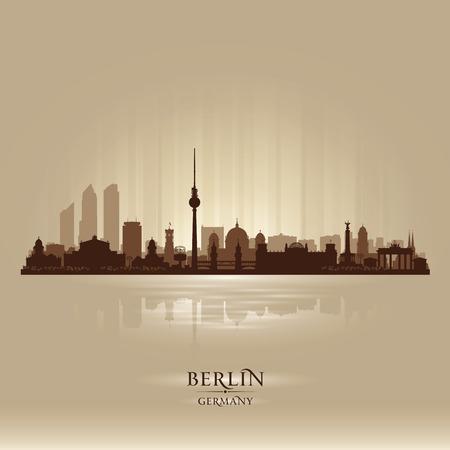 Berlijn Duitsland skyline vector silhouet illustratie