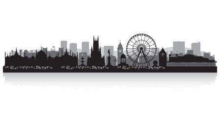 Brighton skyline van de stad silhouet vector illustratie