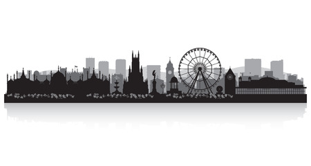 Brighton city skyline silhouette vector illustration