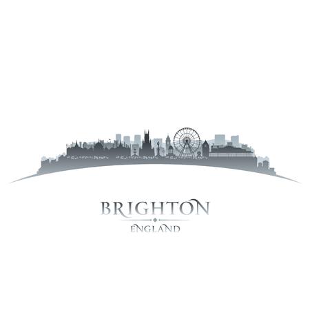skyline city: Brighton England city skyline silhouette. Vector illustration