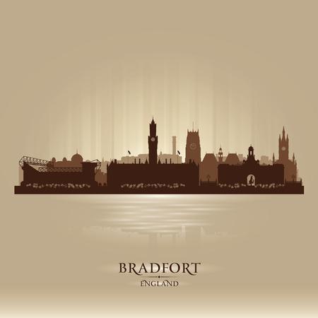 inglaterra: Bradfort Inglaterra silhueta skyline da cidade