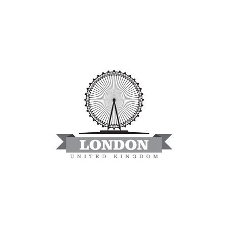 europa: London United Kingdom city symbol vector illustration Illustration