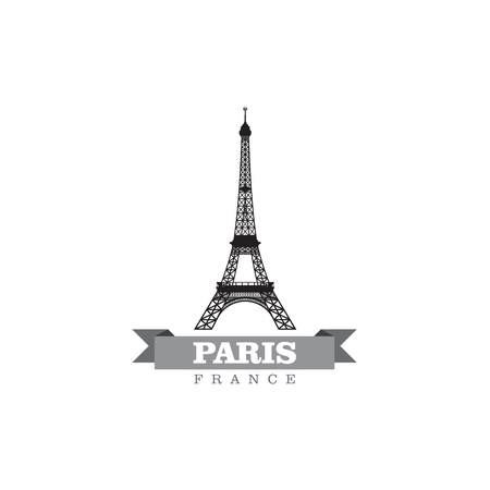travel icon: Paris France city symbol vector illustration
