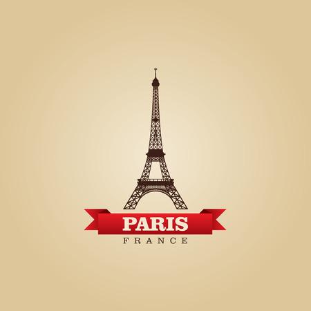 europa: Paris France city symbol vector illustration