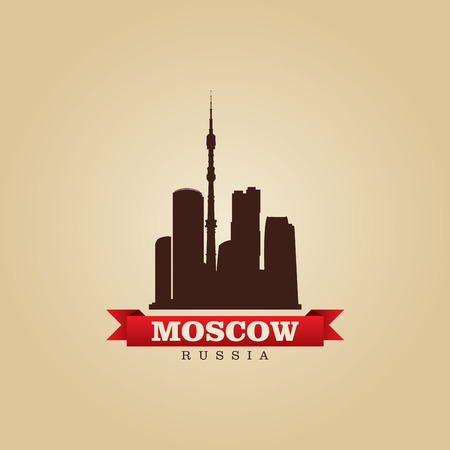 moscow russia: Moscow Russia city symbol vector illustration