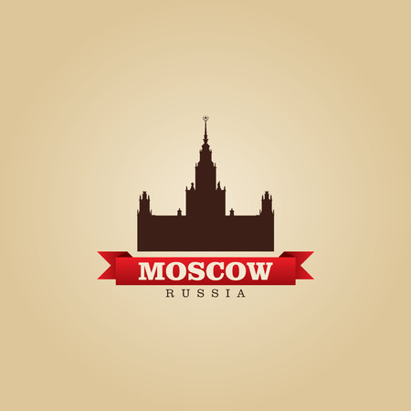 moscow city: Moscow Russia city symbol vector illustration