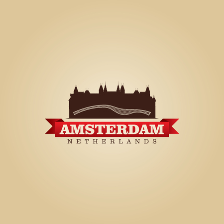 europa: Amsterdam Netherlands city symbol vector illustration