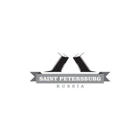 ロシア連邦サンクトペテルブルク市シンボル ベクトル図
