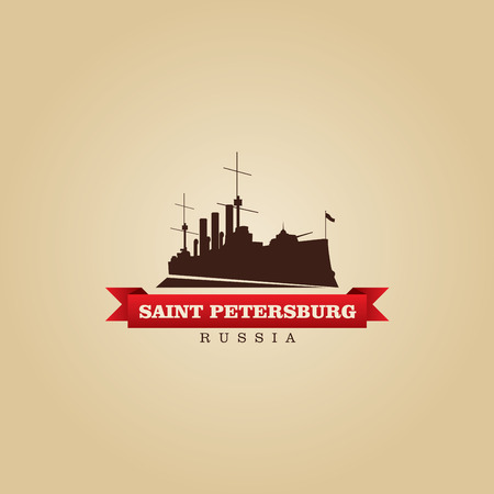 saint petersburg: Saint Petersburg Russia city symbol vector illustration