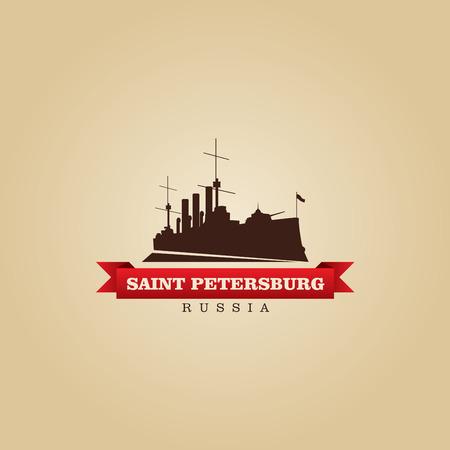 saint petersburg: Saint Petersburg Russia city symbol vector illustration