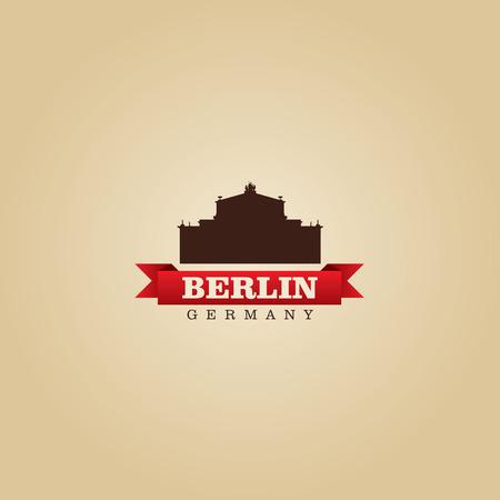 european: Berlin Germany city symbol vector illustration