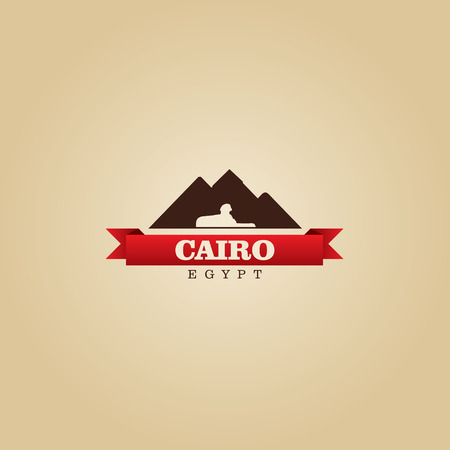 egypt: Cairo Egypt city symbol vector illustration Illustration