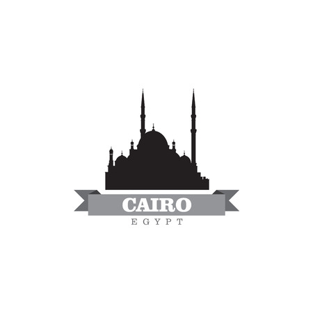cairo: Cairo Egypt city symbol vector illustration Illustration