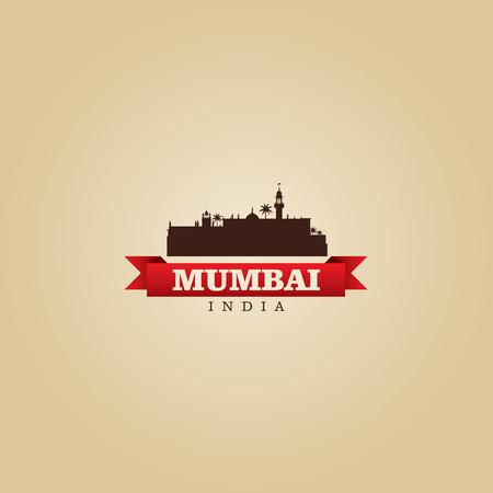 india city: Mumbai India city symbol vector illustration Illustration