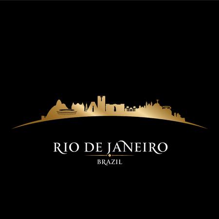 sky scraper: Rio de Janeiro Brazil city skyline silhouette. Vector illustration
