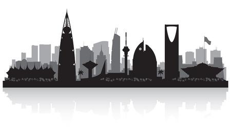 Riyadh Arabia Saudita città skyline silhouette illustrazione Archivio Fotografico - 53116994