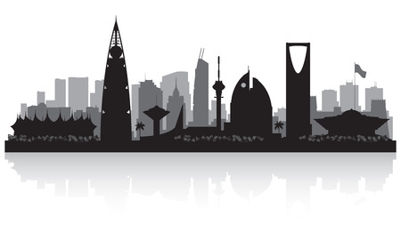 Riyadh Arabie Saoudite ville skyline silhouette illustration
