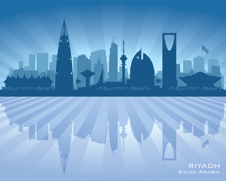 Arabia Saudí Riad horizonte de la ciudad silueta ilustración