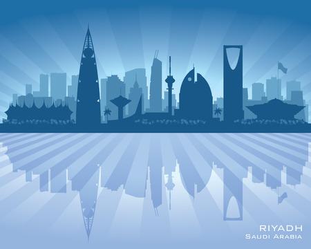 arabia: Riyadh Saudi Arabia city skyline silhouette illustration
