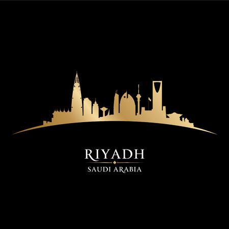 gold coast: Riyadh Saudi Arabia skyline Detailed silhouette Illustration