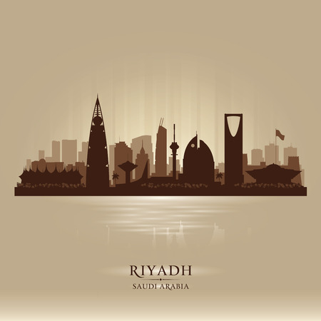 Riyadh Saudi Arabia city skyline silhouette illustration Фото со стока - 53116995