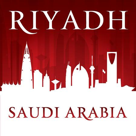 Riyadh Saudi Arabia city skyline silhouette. illustration