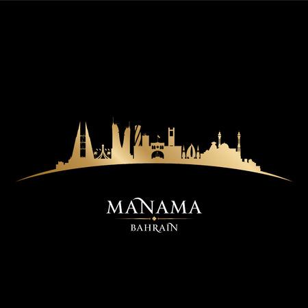 bahrain: Manama Bahrain skyline Detailed silhouette