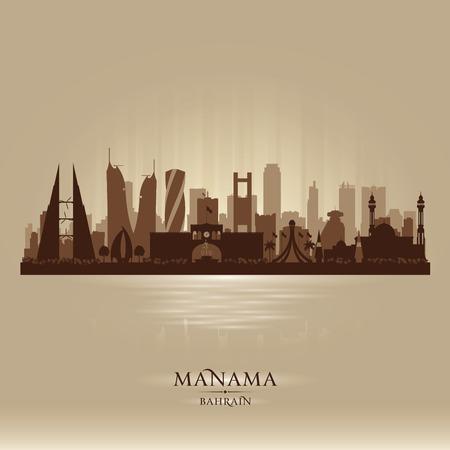 scraper: Manama Bahrain city skyline silhouette illustration