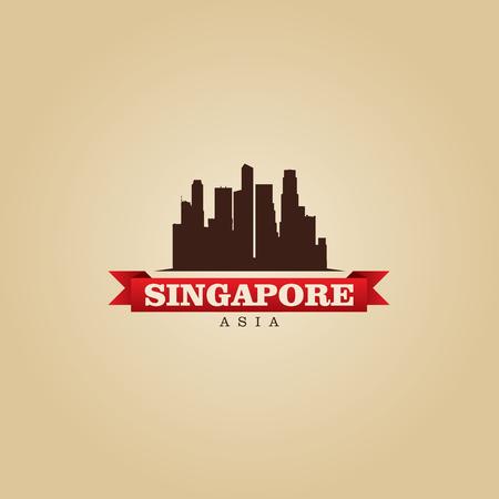Singapore Asia city symbol illustration