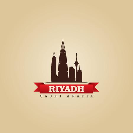 saudi arabia: Riyadh Saudi Arabia city symbol illustration Illustration