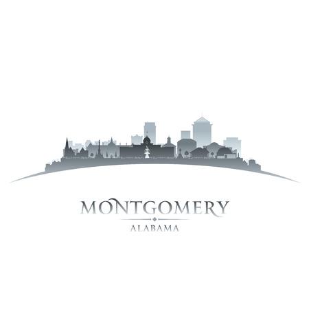 Montgomery in Alabama città skyline silhouette. illustrazione Vettoriali