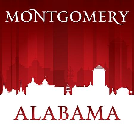 Montgomery Alabama city skyline silhouette. illustration