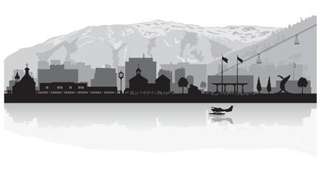 Juneau Alaska city skyline vector silhouette illustration 向量圖像