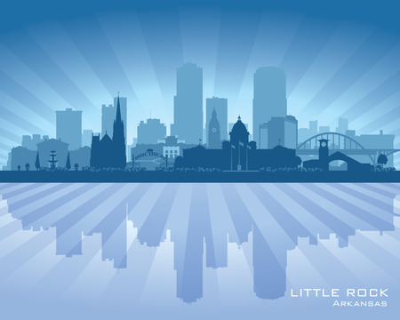 Little Rock Arkansas city skyline vector silhouette illustration