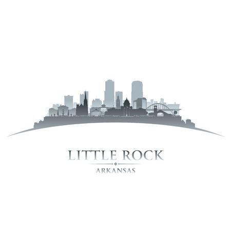 Little Rock Arkansas city skyline silhouette. Vector illustration