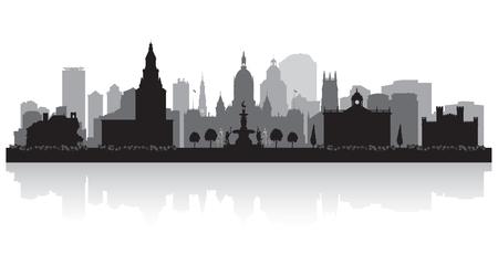 city: Hartford Connecticut city skyline vector silhouette illustration