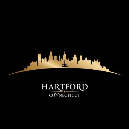 Hartford Connecticut city skyline silhouette. Vector illustration