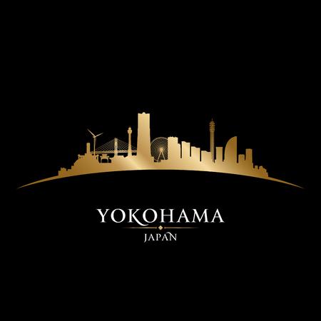 city building: Yokohama Japan skyline Detailed vector silhouette Illustration