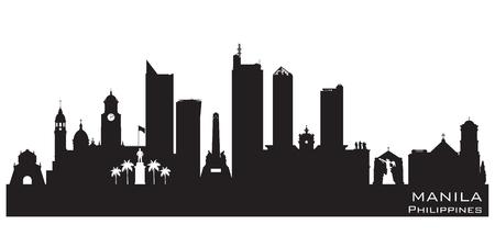 Manila Filipijnen skyline Gedetailleerde vector silhouet