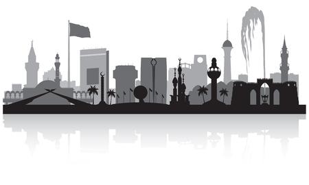 Arabia Saudita Arabia Saudita skyline illustrazione vettoriale silhouette