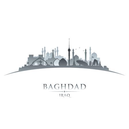 dark: Baghdad Iraq city skyline silhouette. Vector illustration Illustration