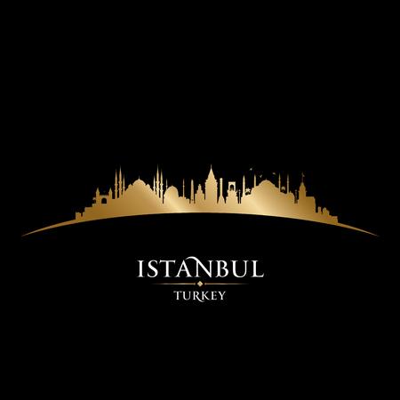 Istanbul Turkey city skyline silhouette. Vector illustration Stock Illustratie