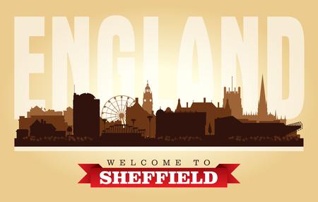 Sheffield United Kingdom city skyline vector silhouette illustration
