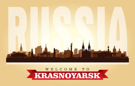 Krasnoyarsk Russia city skyline vector silhouette illustration