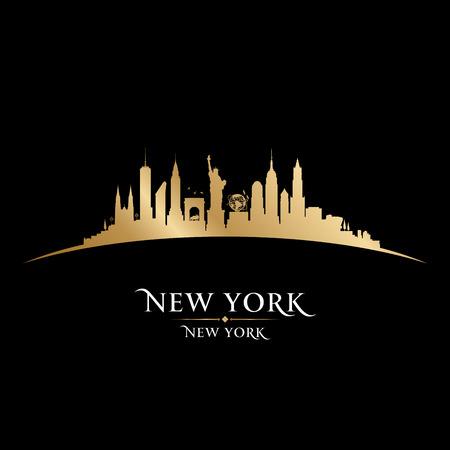 New York city skyline silhouette. Vector illustration Иллюстрация
