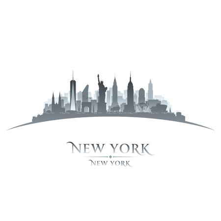 New York city skyline silhouette. Vector illustration Ilustrace