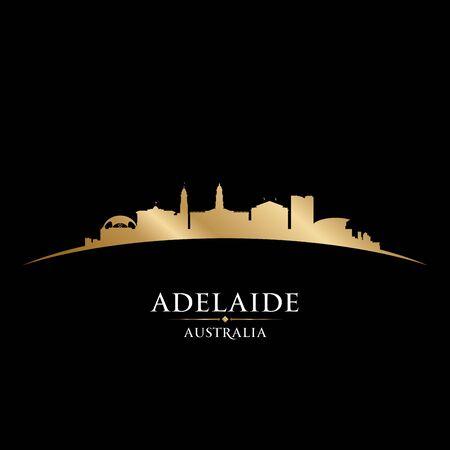 Adelaide Australia city skyline silhouette. Vector illustration Illustration