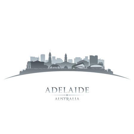 Adelaide Australia city skyline silhouette. Vector illustration Иллюстрация