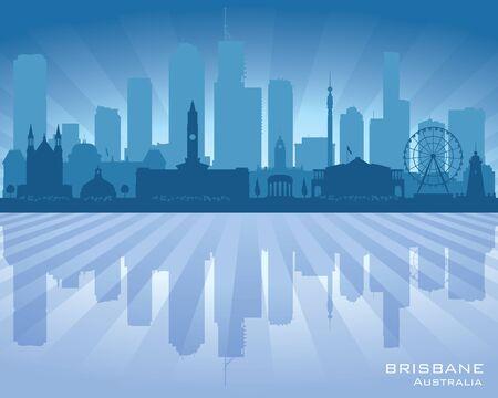 Brisbane Australia city skyline vector silhouette illustration