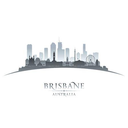 Brisbane Australia city skyline silhouette. Vector illustration